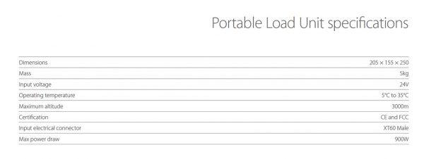 Unidad de carga portátil PLU Portable Load Unit - IE-Soar™ - Intelligent Energy - GreenTech Factory